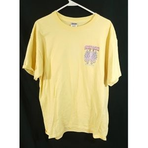 Jerzees Womens Short Sleeve Tops Yellow Size L